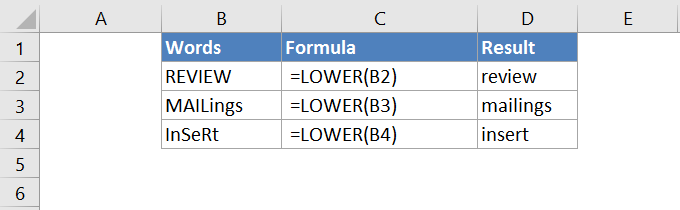 LOWER FUNCTION