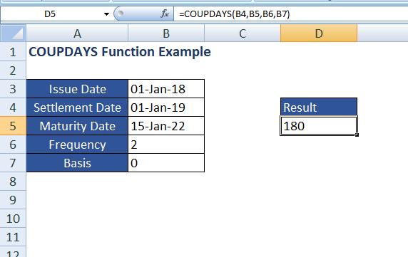 Maturity date example